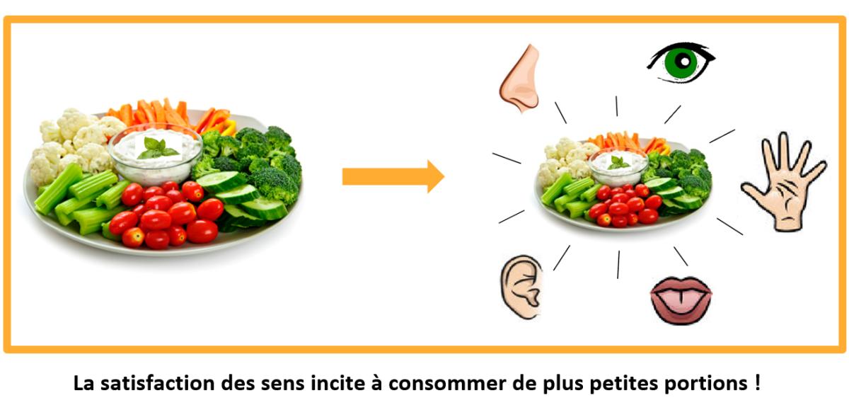 Quand le plaisir sensoriel permet de se satisfaire de plus petites portions…